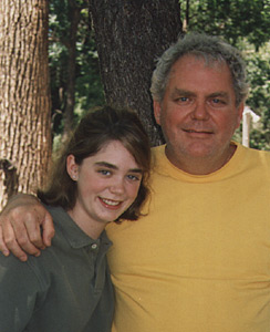 John with daughter Liza at Shelby's ranch